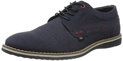 XTI 49690, Zapatos de Cordones Oxford para Hombre, Azul Navy Navy, 42 EU