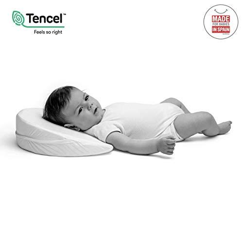 Cambrass Liso E - Cojín bebe 37 x 29 cm, color blanco