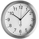 Basic clocks Funk Wanduhr basic clocks Aluminium mit Echtglas Abdeckung