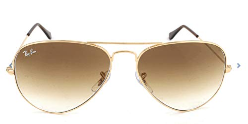 Ray-ban rb3025 aviator occhiali da sole unisex adulto, oro (goldfarben), 58 mm