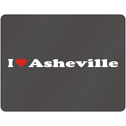 Teeburon I LOVE Asheville Horizontal Sign
