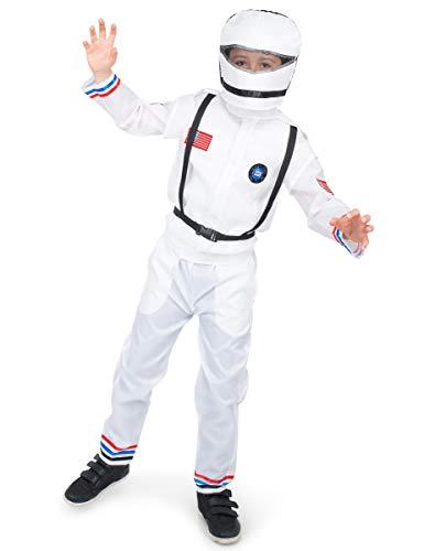 Generique - Astronauten - Kinderkostüm weiß 140 (9-10 Jahre)