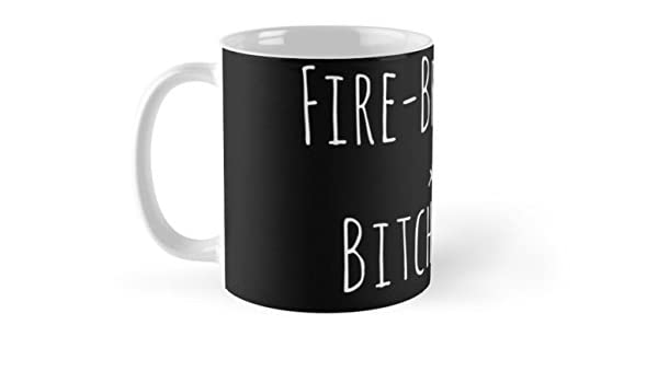 Buy Shopsmeade Fire Breathing Bitch Queen 2 White On Black Mug