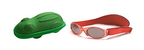Babybanz 0 bis 2 Monate Sonnenbrille, Rot und ein Yoccoes Sonnenbrille Fall - Grüner Frosch