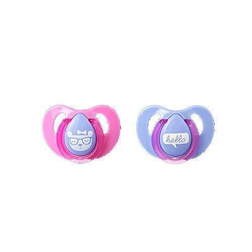 Tommee Tippee Essenziale Di base Decorato Ciliegia Ciucci - Blu DUE Confezione