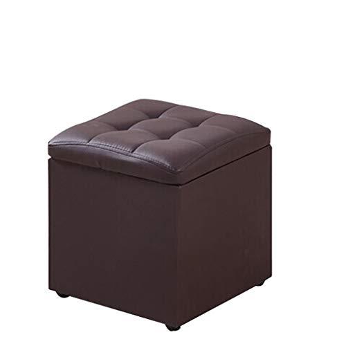 Faux-leder-lagerung (footstool Faux Leder Lagerung Ottoman Sitzbank Fußstütze Hocker Geeignet für Wohnzimmer Schlafzimmer 33 * 33 * 34 cm)