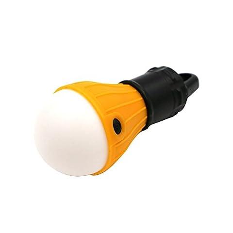 LED Camping Ampoule Tente Lumière Pêche Lanterne Lampe torche extérieure Hanging Portable-Orange