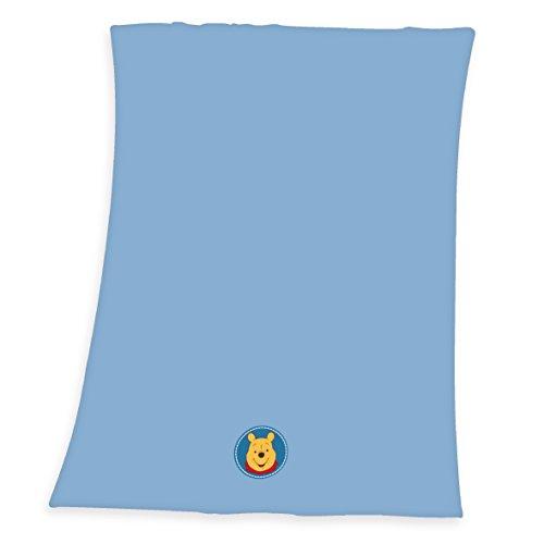 Herding 1423054014521 Babydecke Winnie Pooh Microfaserflausch-Decke, Größe 75 x 100 cm, 100% Polyester
