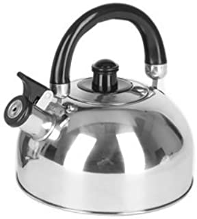 Unibos 2L Brushed Stainless Steel Heat Resistant Whistling Kettle Silver Kitchenware