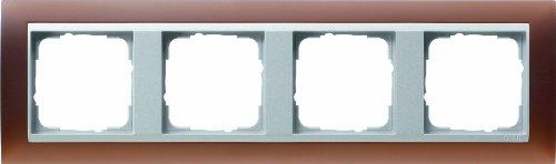 Preisvergleich Produktbild Gira 021459 Abdeckrahmen 4-fach für alu Event opak, dunkelbraun