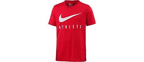 Nike-herren Dri-fit Körper (Nike Herren Dry Athlete Kurzarm T-Shirt, Gym Red/(Hyper Crimson), L)