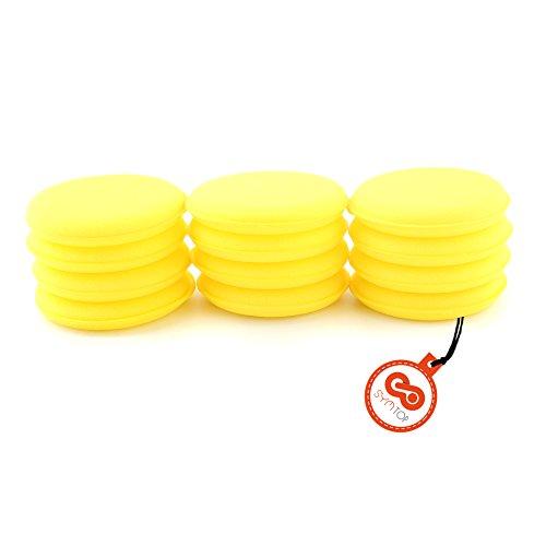 Preisvergleich Produktbild 12 Stück Schaumstoff Schwamm Wachs Applikator Pads für Auto Waxing polnischen Reinigung