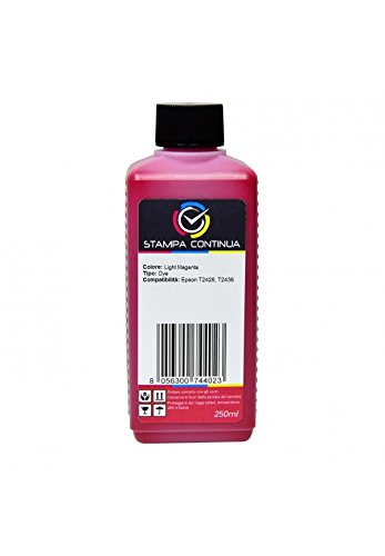 Light Magenta-photo Dye (Tintenpatrone Inktec E0014 Light Magenta 250 ml kompatibel mit-T2436 Für Drucker Epson Expression Photo XP-750, XP-850, XP-760, 860, XP-95, XP-960)