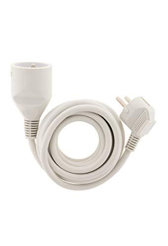 Prolongateur Ménager 16A Ho5Vv-F 3G1 Blanc 1,90M