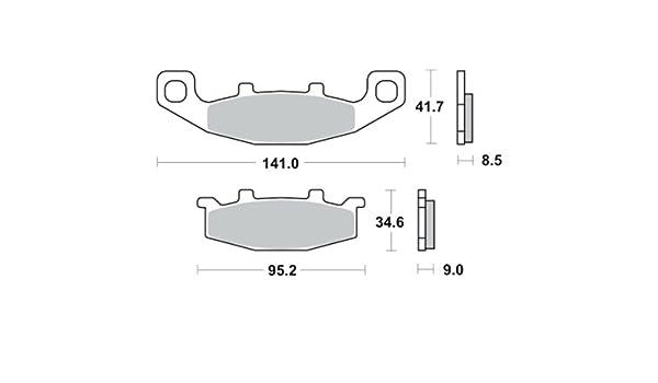 Bremsbel/äge TRW MCB569SV f/ür KAWASAKI KLR 650 Tengai KL650B 89-94 vorne