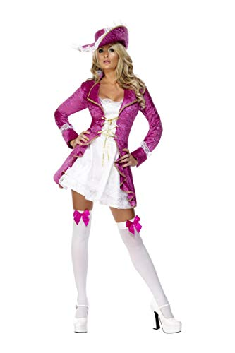 Smiffys Costume Pirate's Treasure Fever Rose Et Blanc
