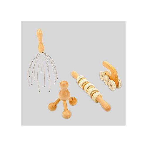 AC-Déco Massage-Set – 4-teilig – Holz