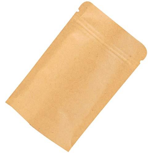 verschließbaren Fest Farbe Kraftpapier Folien-Beutel Up Stand Heat Seal Food Grade Pouch ()