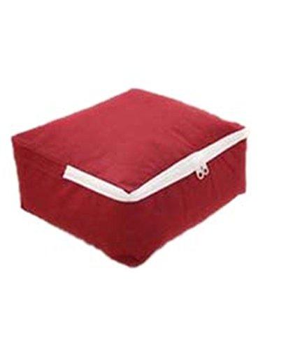 KCNCKSL 1 Stück Vlies Aufbewahrungsbeutel Für Quilt Falten Kleidung Speicherorganisator Für Kleidung XS-XXL A198 Wine Red XS (Quadrat Bett In Einem Beutel)