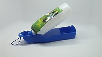 Bailuoni Bol distributeur d'eau de voyage avec bouteille d'eau pour chien ou chat Bleu 500ml