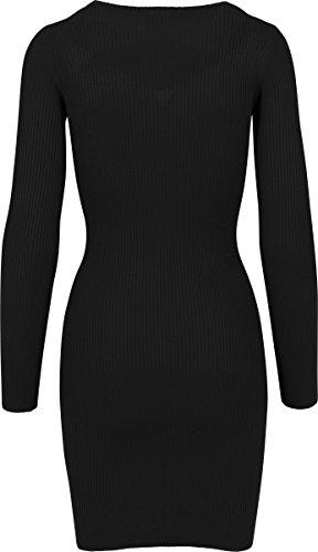 Urban Classics Damen Kleid Ladies Cut Out Dress Schwarz (Black 7)