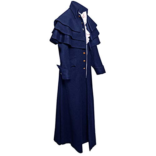 Herren Jacke Punk Langarm Gothic Retro Mantel Uniform Stehkragen Cosplay Vintage Viktorianischen Langer Mantel Kostüm Cosplay Kostüm Smoking Jacke Uniform (Automobil-uniform-hose)