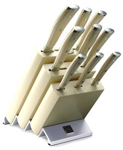 Messerblock mit 9 Teilen CLASSIC IKON WEISS Wüsthof Dreizackwerk - Messer Ikon Wusthof Weiß