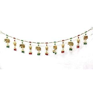 Amba Handicraft Door Hanging Toran Window Valance Dream Catcher Home Décor interior pooja bandanwaar Diwali gift festival colorful indian handicraft love.TORAN106