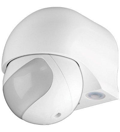 Preisvergleich Produktbild Infrarot Außen Bewegungsmelder slim Aufputz Outdoor 180 Grad 180° für LED (2 Stück)
