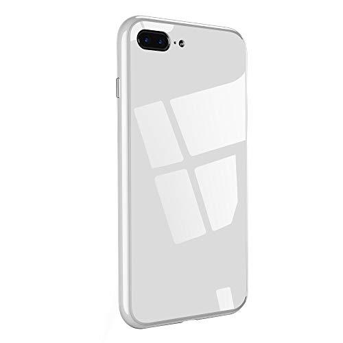 Caler kompatibel mit iPhone 8 / iPhone 7 Hülle + gehärtetes Glas 360 Grad Caso exakte Slim Full Screen Protector, stoßfest, dünn Bumper Magnetic Case Handy Schutz