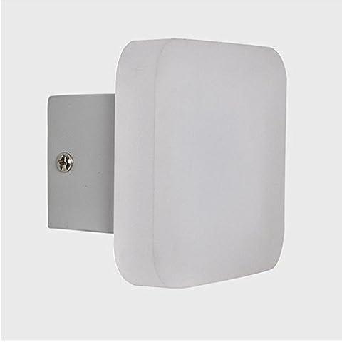 YMXJB Acrilico LED parete luci Bedroom Bar Sconce luce corridoio Comodino moderno personalizzato O tipo parete lampada esterna Nightlight, 220V