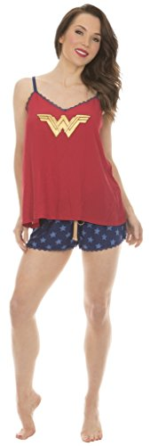 Batman VS Superman Wonder Woman Cami and Ruffle Sleep Set (Small) (Set Woman Wonder Cami)