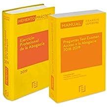 Pack Memento Ejercicio Profesional de la Abogacía 2019 + Manual Preguntas Test Examen Acceso a la Abogacía 2018-2019