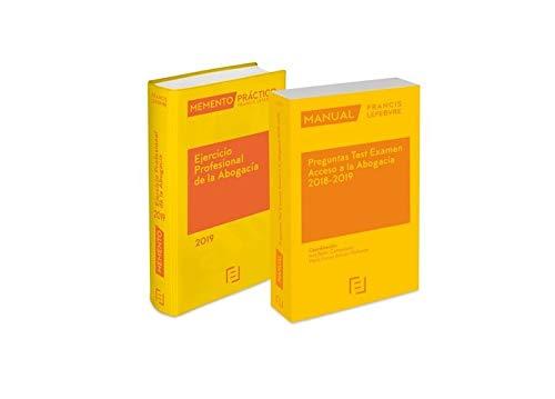 Pack Memento Ejercicio Profesional de la Abogacía 2019 + Manual Preguntas Test Examen Acceso a la Abogacía 2018-2019 por Lefebvre-El Derecho