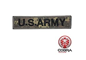 Cobra Tactical Solutions US Army Digital Woodland Camo Patch Militaire Écusson Brodé Hook & Loop Airsoft