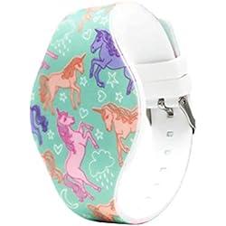 Hemobllo Enfants Montre numérique Licorne Motif Montre à écran Tactile LED Bracelets Montre électronique Cadeau d'anniversaire pour garçon Fille
