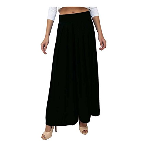 Indian Handicrfats Export Dolce Divaa Flared Women's Black Trousers