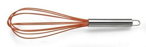 Pintinox 72000252, Frusta in silicone con manico in acciaio inox, colore: Arancione