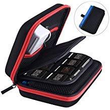 AUSTOR Hart Tasche Tragetasche für Nintendo Neue 3DS XL-Schwarz / Rot