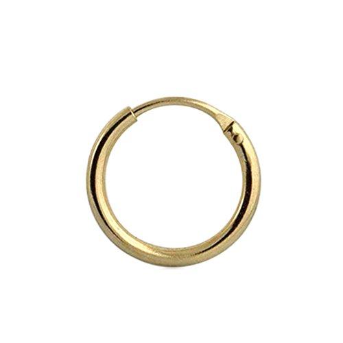 "9K Solid Gelb Gold 5/16\""(8MM) Durchmesser Segment Hoop Nase Ring Tragus Helix Piercing"