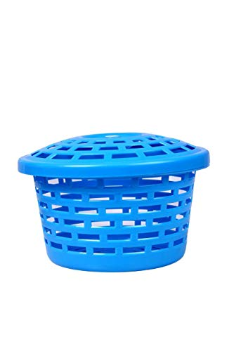 TFWTM TIRTH Fashion World Storage Baskets | Multipurpose Plastic Container Set | Utility Organizer | Round Baskets Set (Medium) with Lid and Holding Space