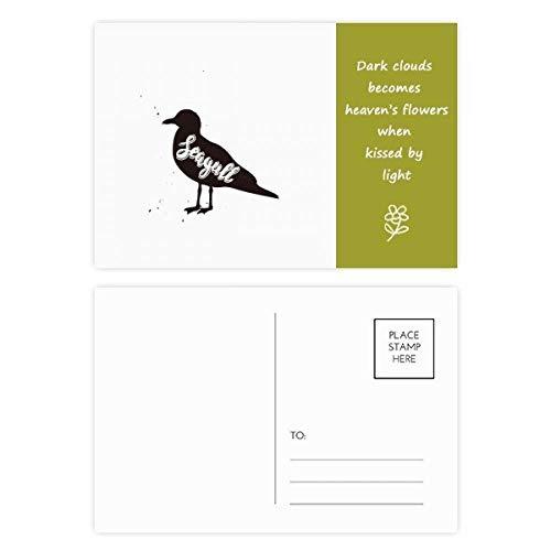 DIYthinker Seemöwen-Poesie-Postkartenset mit englischsprachiger Aufschrift, 15 x 9 cm, mehrfarbig, 20 Stück