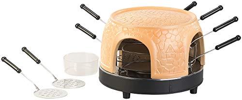 Cucina di Modena Mini Pizza Ofen: Pizzaofen mit echter Terrakotta-Haube für 8 Personen (Tisch-Pizzaofen)