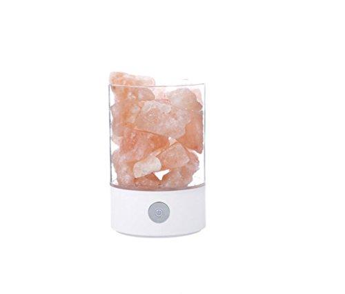 MSAJ Natürliche Anion Luftreinigung Nachtlicht Schlafzimmer Kopfteil USB Crystal Night Light(White) (Eisen Platte Aus Natürlichem)