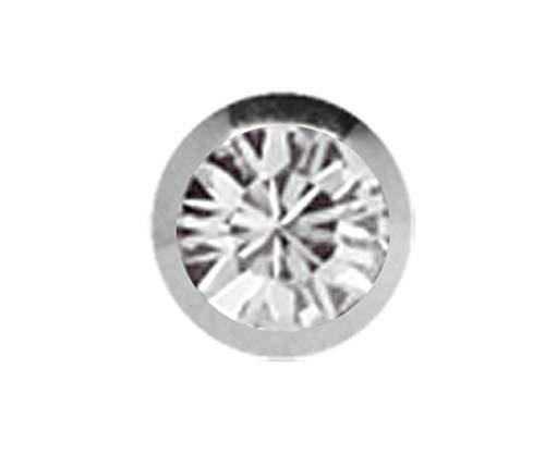 Titan Piercing Schmuck Verschluss Kugel in 1,2 x 2,5 mm, gefaßter Zirkonia in klar