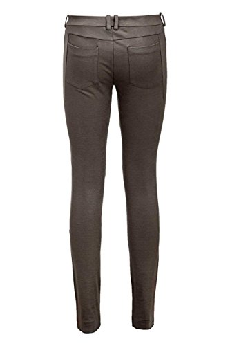 Drykorn Damen Hose TIGHTS, Farbe: Anthrazit Dunkelbraun