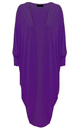 Cardigan en dentelle Kimono à manches longues EUR Taille 36-52 Violet