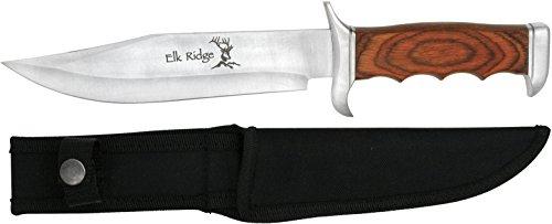 Elk Ridge Outdoormesser Hunter Holzgriff, Gesamtlänge cm:  31,75, ELKR-1001
