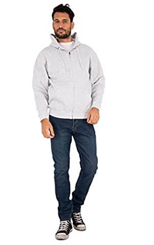 Fruit of the Loom Hooded Jacket, Sweat-Shirt à Capuche Homme, Rot (Heather Grey 94), X-Large