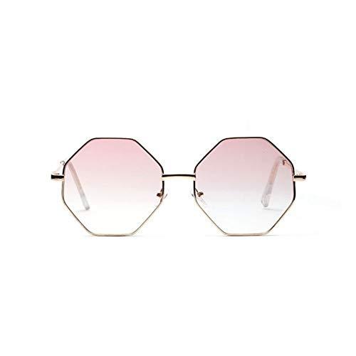 XIAOYUTOU Mode Dame Sonnenbrille Hexagon Sonnenbrille Frauen Sonnenbrille blau rosa klare linse Sonnenbrille weiblich (Lenses Color : Multi)